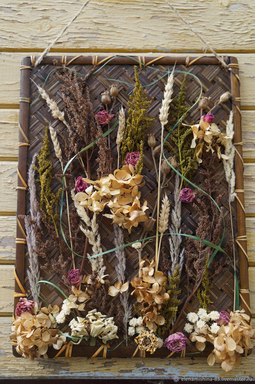 Поделки из сушеных цветов своими руками