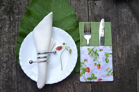 Кухня ручной работы. Ярмарка Мастеров - ручная работа. Купить Чехол-конвертик для вилок и ножей, футляр для приборов. Handmade.