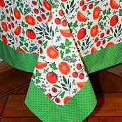 """Для дома и интерьера ручной работы. Ярмарка Мастеров - ручная работа Скатерть на стол """"Витамины круглый год"""" Полульняная скатерть. Handmade."""