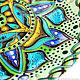 Mandala with tassels 'Emerald' decorative plate. Plates. Art by Tanya Shest. My Livemaster. Фото №4