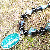 """Украшения handmade. Livemaster - original item """"Снится мне прибой"""" колье из натуральных камней. Handmade."""