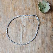Браслет из бусин ручной работы. Ярмарка Мастеров - ручная работа Браслет из серебра и лунного камня. Handmade.