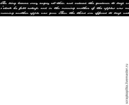 Открытки и скрапбукинг ручной работы. Ярмарка Мастеров - ручная работа. Купить Бумажный скотч с принтом. Элегия. Письмена 15мм х 8м. Handmade.