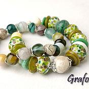 Украшения handmade. Livemaster - original item Bracelet stones green noise. Handmade.