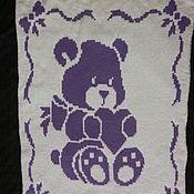 Для дома и интерьера ручной работы. Ярмарка Мастеров - ручная работа Детский плед Мишка с сердечком. Handmade.