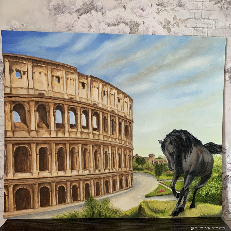 Картина: Рим и Колизей, Картины, Москва,  Фото №1