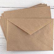 Пакеты ручной работы. Ярмарка Мастеров - ручная работа Пакеты: Конверт из крафт-бумаги (С6), 114х162мм. Handmade.
