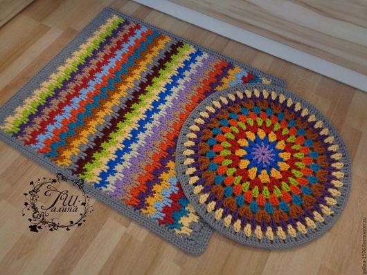 """Текстиль, ковры ручной работы. Ярмарка Мастеров - ручная работа. Купить Комплект """"Веселье"""". Handmade. Комбинированный, интерьер, многоцветный"""