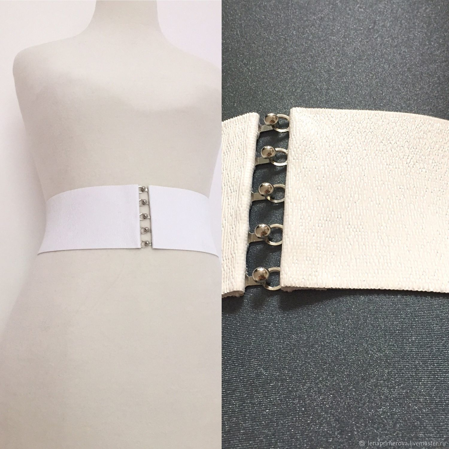 belts-bands of shades of white from pure white to dark white, h-different, Belt, Moscow,  Фото №1