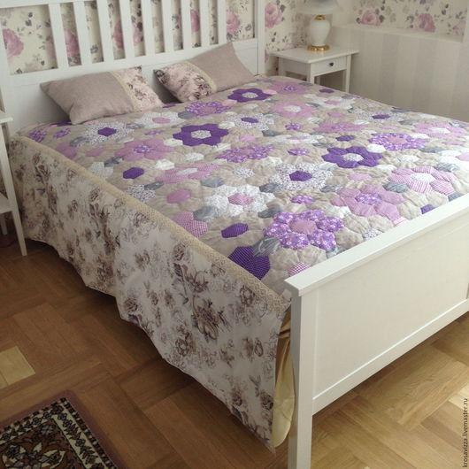 Текстиль, ковры ручной работы. Ярмарка Мастеров - ручная работа. Купить Одеяло пэчворк на кровать 160х200 см, ручная работа. Handmade.