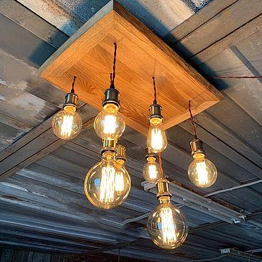 """Освещение ручной работы. Ярмарка Мастеров - ручная работа Потолочный светильник/люстра в стиле лофт """"Long"""". Handmade."""