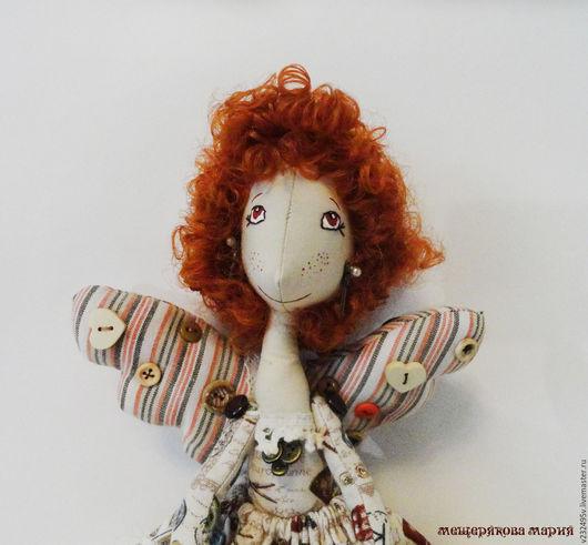 Коллекционные куклы ручной работы. Ярмарка Мастеров - ручная работа. Купить Фейка-Швейка Рыжик. Handmade. Бежевый, кукла текстильная