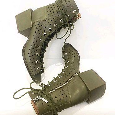 Обувь ручной работы. Ярмарка Мастеров - ручная работа Ботинки летние. Handmade.