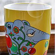 """Посуда ручной работы. Ярмарка Мастеров - ручная работа Кружка """"Слон разноцветый"""". Handmade."""