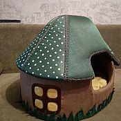 Домик для питомца ручной работы. Ярмарка Мастеров - ручная работа Домик для кота. Handmade.