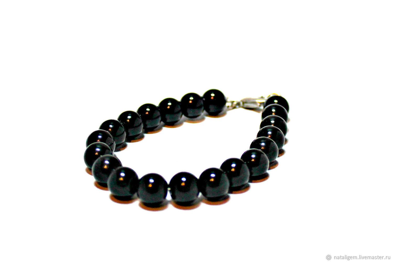 Men's bracelet made of natural agate stones, Pendants, Tuchkovo,  Фото №1