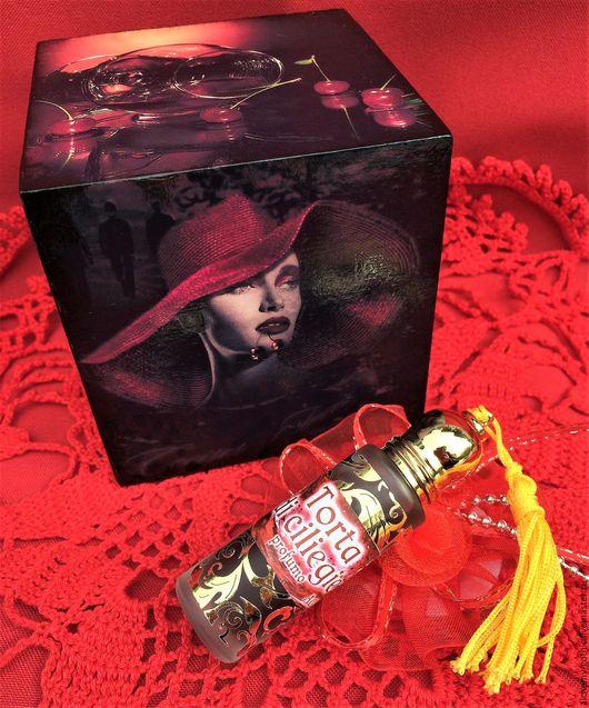 """Натуральные духи ручной работы. Ярмарка Мастеров - ручная работа. Купить """" Torta di ciliegie """" духи натуральные. Handmade."""