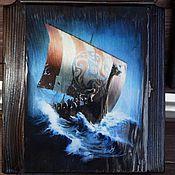 """Для дома и интерьера ручной работы. Ярмарка Мастеров - ручная работа Ключница """"Северное Море"""". Handmade."""