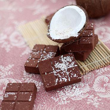 """Косметика ручной работы. Ярмарка Мастеров - ручная работа Шоколад для ванны """"Баунти"""". Handmade."""