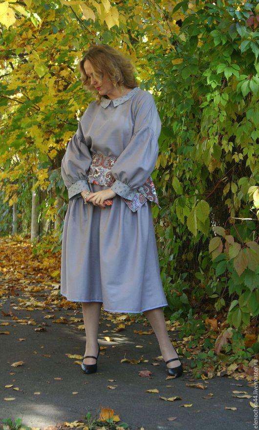 """Платья ручной работы. Ярмарка Мастеров - ручная работа. Купить Платье """"Лаванда"""". Handmade. Голубой, бохо шик, оверсайз"""