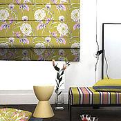 Для дома и интерьера ручной работы. Ярмарка Мастеров - ручная работа Римская штора крупные цветы. Handmade.