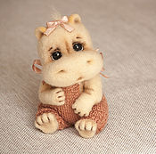 Куклы и игрушки ручной работы. Ярмарка Мастеров - ручная работа Бегемотик Ясенька. Handmade.