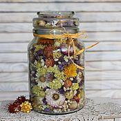 Композиции ручной работы. Ярмарка Мастеров - ручная работа Цветочная композиция из сухоцветов. Handmade.