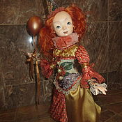 Куклы и пупсы ручной работы. Ярмарка Мастеров - ручная работа клоунесса валюша. Handmade.