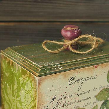 Для дома и интерьера ручной работы. Ярмарка Мастеров - ручная работа Короб Прованские травы в стиле кантри,винтаж. Handmade.