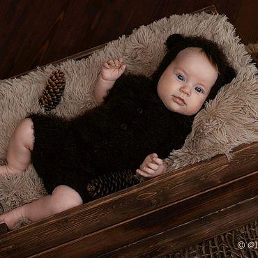 Товары для малышей ручной работы. Ярмарка Мастеров - ручная работа Комплект для новорожденного Медвежонок Реквизит для фотосессии. Handmade.