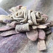 Валяная брошь «Скошенная трава»