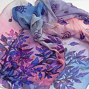 """Аксессуары ручной работы. Ярмарка Мастеров - ручная работа батик шарф """"Рассветный лес"""" шелковый шарф батик. Handmade."""