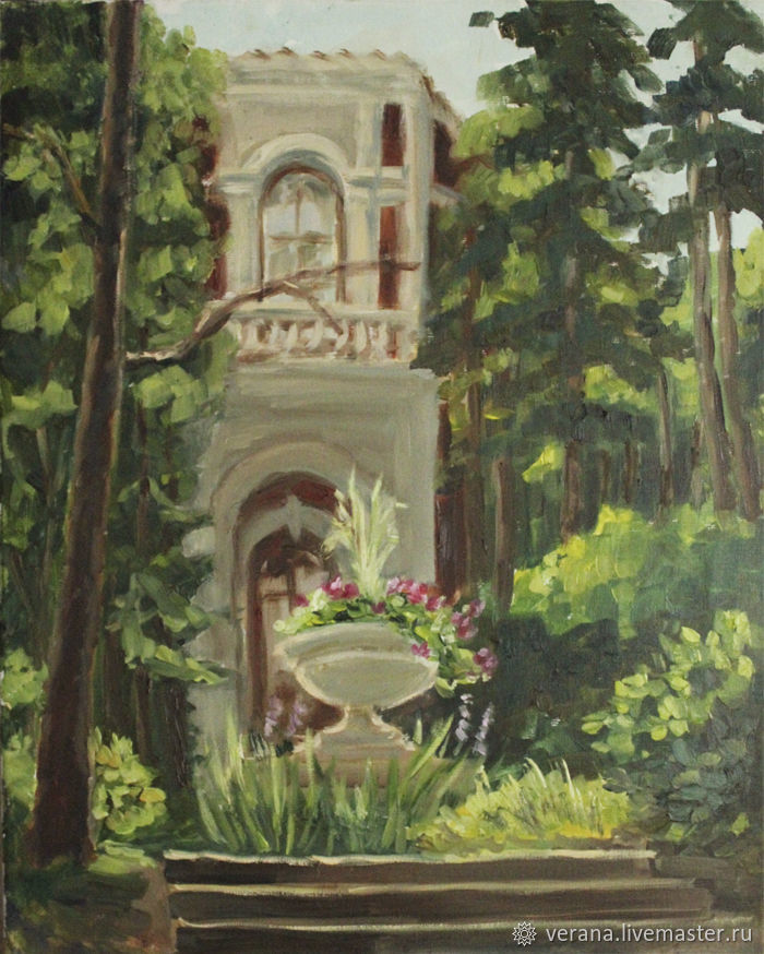 Oil painting 40h50. Landscape Manor Bykovo, Pictures, Zhukovsky,  Фото №1