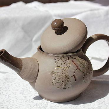 Посуда ручной работы. Ярмарка Мастеров - ручная работа Чайник Графитовый. Handmade.