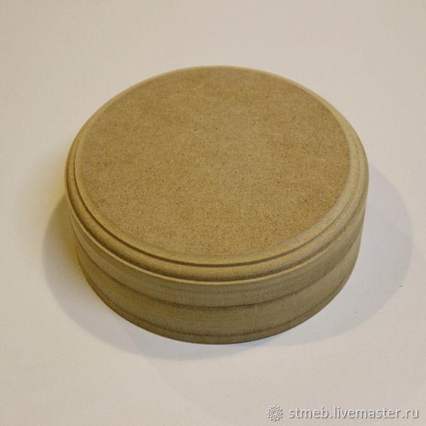 Шкатулка круглая К1515В1 (15х15х5.5 см) для декупажа