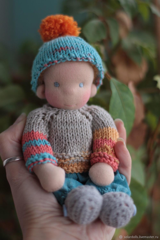 Вальдорфская кукла Максимка 17 см, Вальдорфские куклы и звери, Москва,  Фото №1