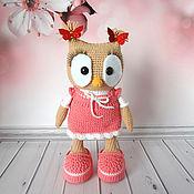 Куклы и игрушки handmade. Livemaster - original item Knitted toy Owl in a dress. Handmade.
