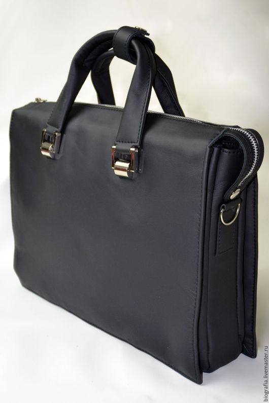 Мужские сумки ручной работы. Ярмарка Мастеров - ручная работа. Купить Деловая мужская сумка.  Персональный заказ 10. Handmade.
