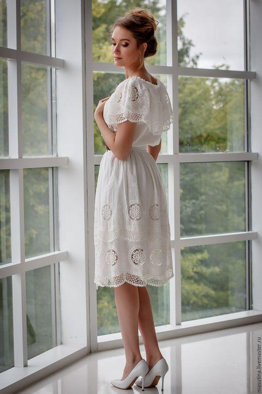 """Платья ручной работы. Ярмарка Мастеров - ручная работа. Купить Платье """"Моя нежность"""". Handmade. Белый, платье на заказ"""