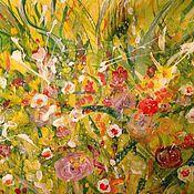 Картины и панно handmade. Livemaster - original item The flowers in the meadow .. Handmade.