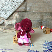 Куклы и игрушки ручной работы. Ярмарка Мастеров - ручная работа Малышка. Слоник. 12см.. Handmade.