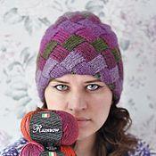 Материалы для творчества ручной работы. Ярмарка Мастеров - ручная работа Видео-мастер-класс по вязанию шапки узором энтрелак. Handmade.