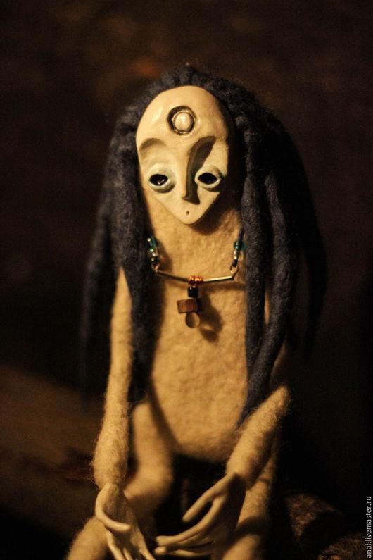 Коллекционные куклы ручной работы. Ярмарка Мастеров - ручная работа. Купить Frost.лесной дух,шаман. Handmade. Белый, волшебство