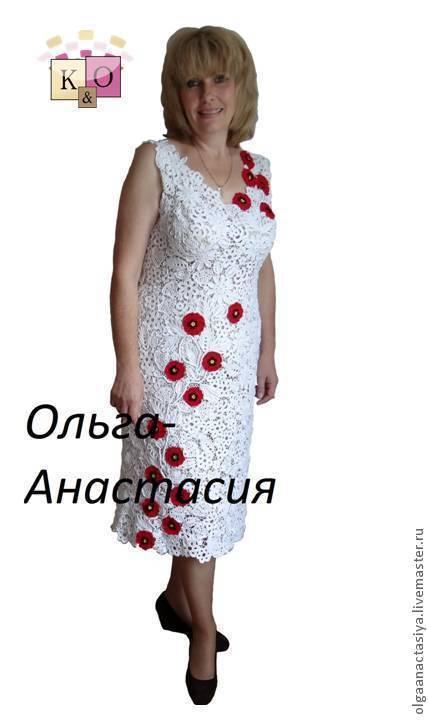 """Платья ручной работы. Ярмарка Мастеров - ручная работа. Купить Ирландское кружево Платье """"Маки"""" модель 2,авторская работа. Handmade."""