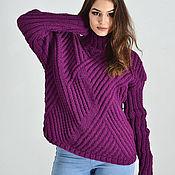 Одежда handmade. Livemaster - original item Women`s knitted sweater purple