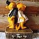 """Мишки Тедди ручной работы. Ярмарка Мастеров - ручная работа. Купить """" AMORE..."""". Handmade. Оранжевый, мишка в одежке"""