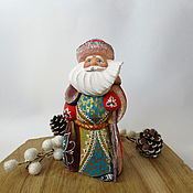 Подарки к праздникам handmade. Livemaster - original item Carved wooden Santa Claus. Handmade.