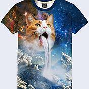 """Одежда ручной работы. Ярмарка Мастеров - ручная работа Мужская футболка """"Кот"""". Handmade."""