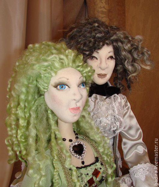 Коллекционные куклы ручной работы. Ярмарка Мастеров - ручная работа. Купить Куклы в историческом костюме. Handmade. Разноцветный, атлас-стрейч