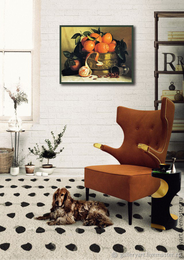 The painting 'still life with oranges', Pictures, St. Petersburg,  Фото №1